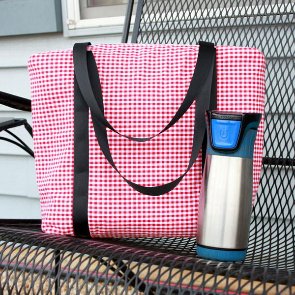 Red gingham Insulated Lunch Bag - Andrie Designs