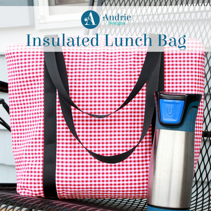 Insulated Lunch Bag - Pattern Inspiration - Andrie Design