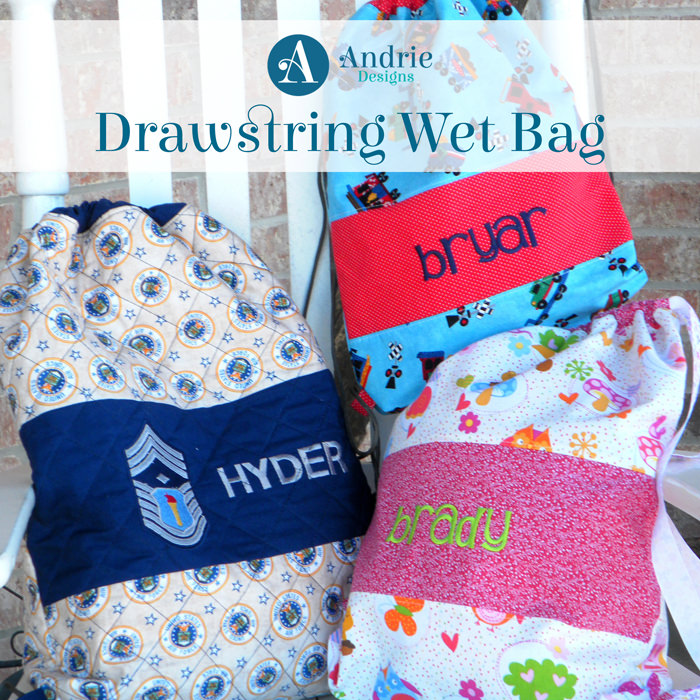 Drawstring Wet Bag - Pattern Inspiration - Andrie Designs
