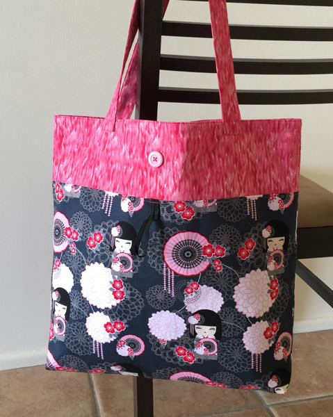 Reusable Grocery Bag - two pretty poppets