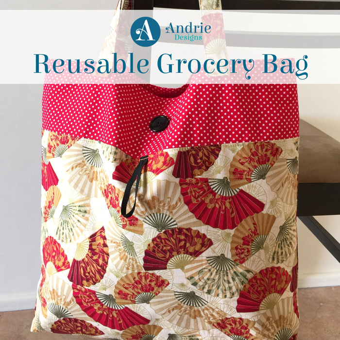 Reusable Grocery Bag - Pattern Inspiration - Andrie Designs
