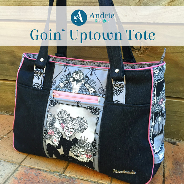 Goin' Uptown Tote - Pattern Inspiration - Andrie Designs