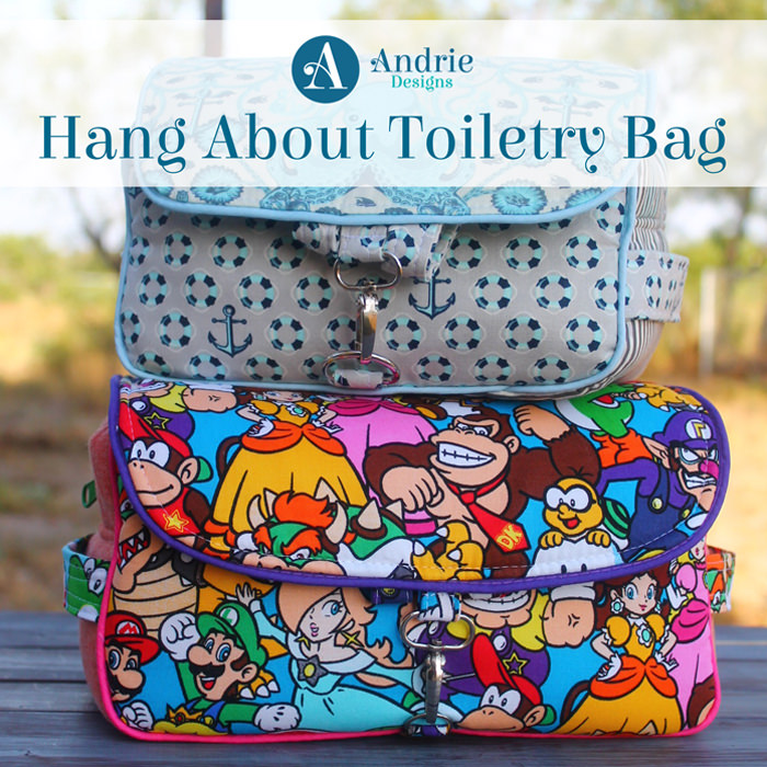 Hang About Toiletry Bag - Pattern Inspiration - Andrie Designs