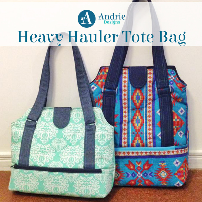 Heavy Hauler Tote Bag - Pattern Inspiration - Andrie Designs