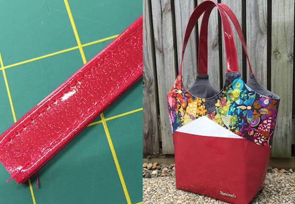 Blog post coming soon from two pretty poppets - www.andriedesigns.com - on making bag handles using glitter vinyl the EASY way!