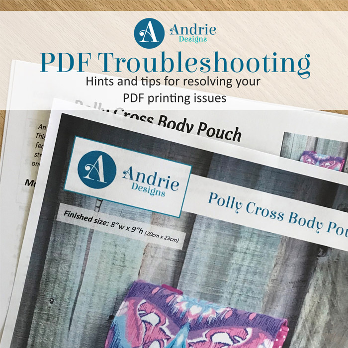 PDF Troubleshooting - Andrie Designs