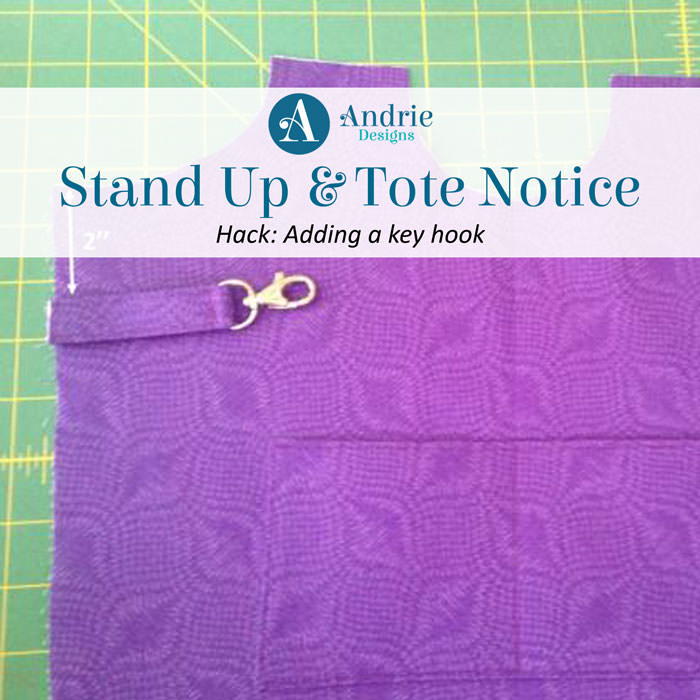 Stand Up & Tote Notice Hack - Adding a key hook - Andrie Designs