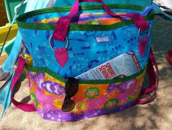 Awesome underwater-themed Summer Lovin' Beach Tote - Andrie Designs