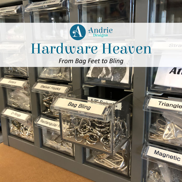Hardware Heaven: From Bag Feet to Bling - Andrie Designs
