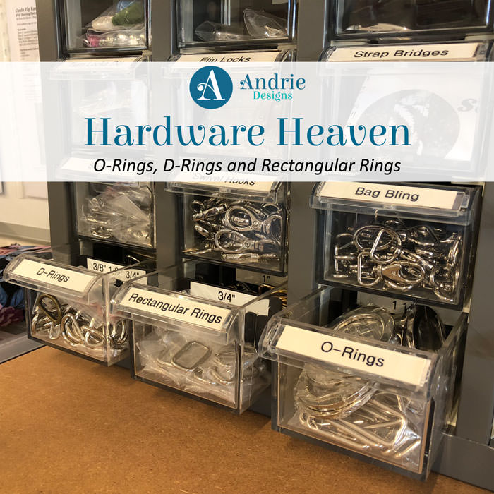 Hardware Heaven: O-Rings, D-Rings and Rectangular Rings - Andrie Designs