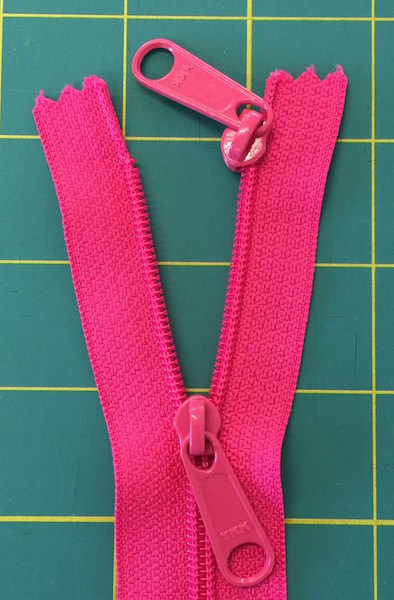 Creating a Double Pull Zipper - two pretty poppets