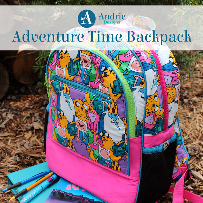 Adventure Time Backpack - Pattern Inspiration - Andrie Designs