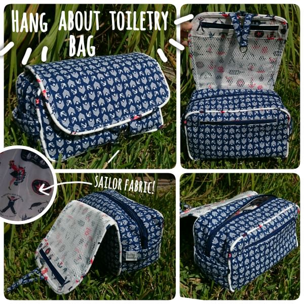 Hang About Toiletry Bag - Meet the Maker: Bitter Candy Handmade - Andrie Designs