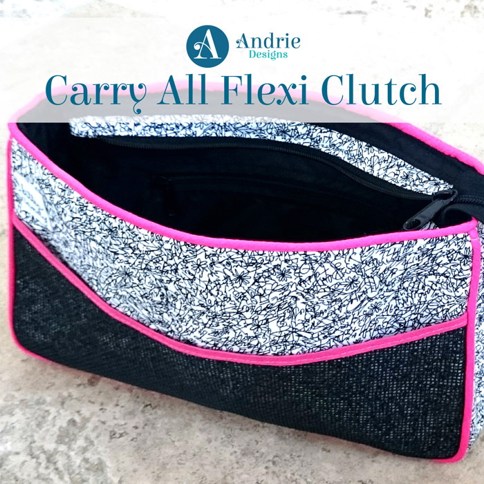 Title -Carry All Flexi Clutch - Andrie Designs