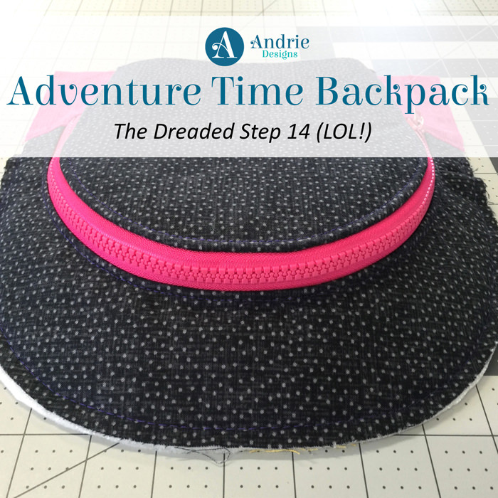 Adventure Time Backpack - The Dreaded Step 14 - Andrie Designs