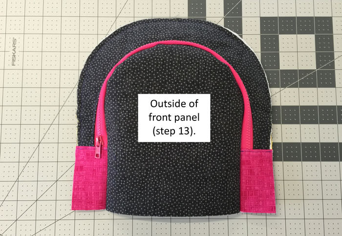 Outside of front panel - Adventure Time Backpack - Step 14 - Andrie Designs