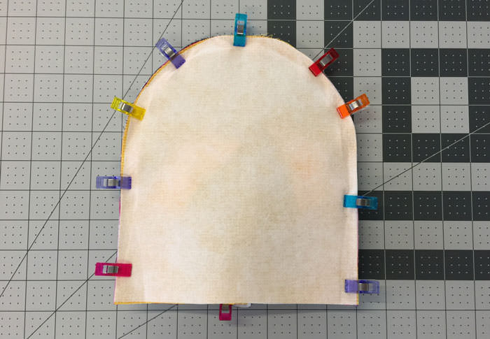 Clip ready to sew - Adventure Time Backpack - Step 14 - Andrie Designs
