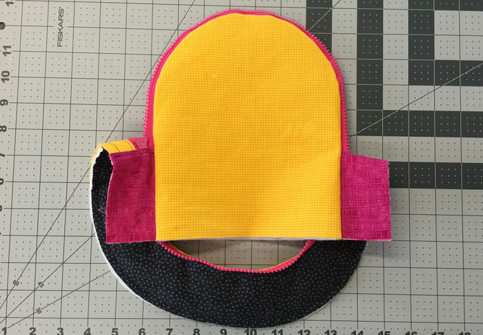 Press and topstitch - Adventure Time Backpack - Step 14 - Andrie Designs