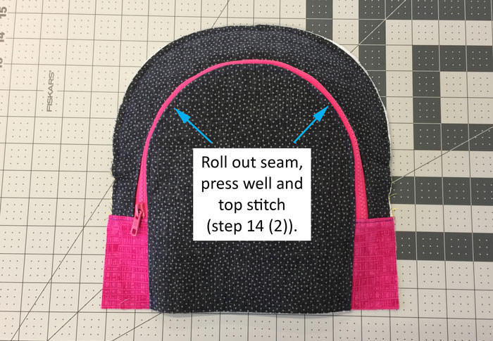 Roll out seam - Adventure Time Backpack - Step 14 - Andrie Designs