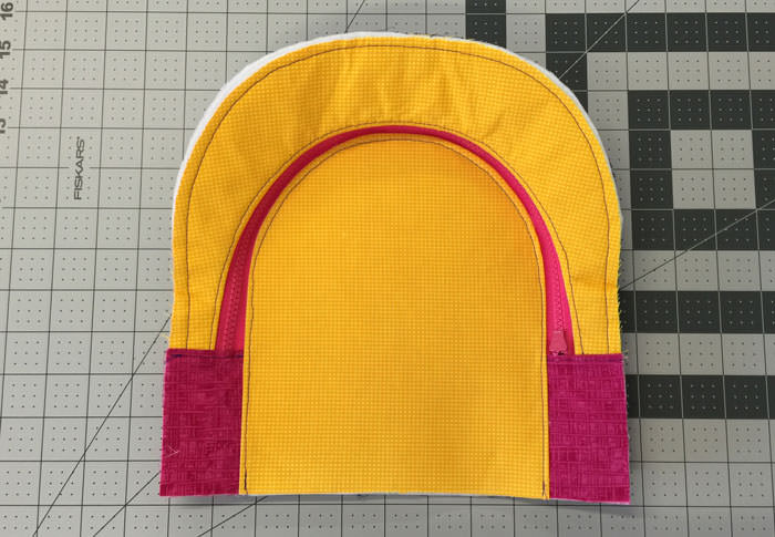 Inside of front panel - Adventure Time Backpack - Step 14 - Andrie Designs