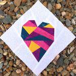 Wonky Heart - two pretty poppets