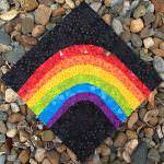 Wonky Rainbow - two pretty poppets