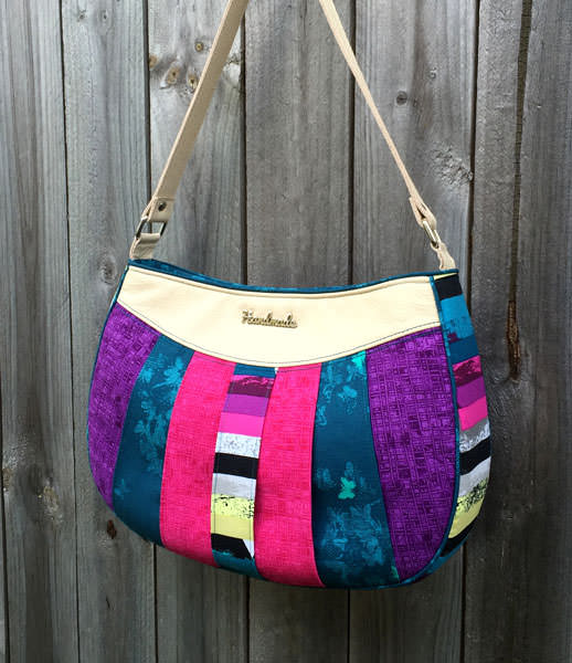 Narrow pieced front Sew Compleat Shoulder Tote - Andrie Designs