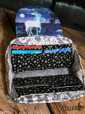 Inside the unicorn Cleo Everyday Wallet - Andrie Designs
