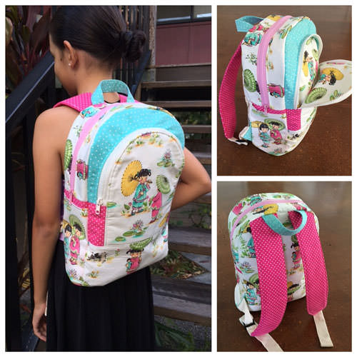 Sweet girls with umbrellas - Adventure Time Backpack - Andrie Designs