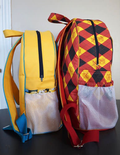 Both sizes of Adventure Time Backpack - Andrie Designs