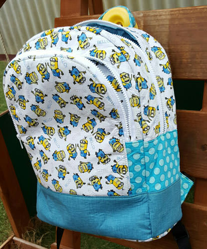 Minions - Adventure Time Backpack - Andrie Designs