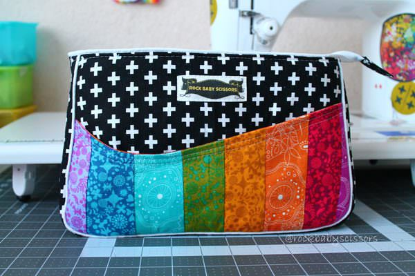 Rainbows!!! Carry All Flexi Clutch - Andrie Designs