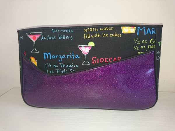 Love this purple glitter vinyl one! Carry All Flexi Clutch - Andrie Designs
