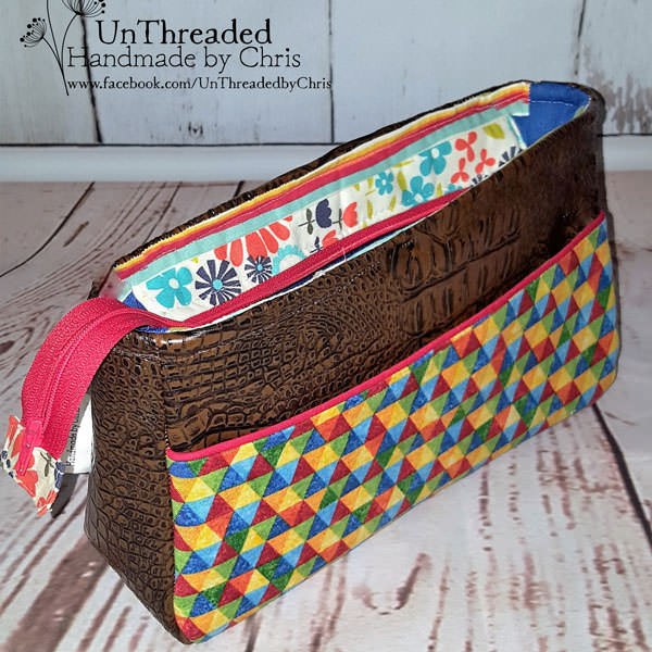 Outside view of the adapted essential oils clutch - Carry All Flexi Clutch - Andrie Designs