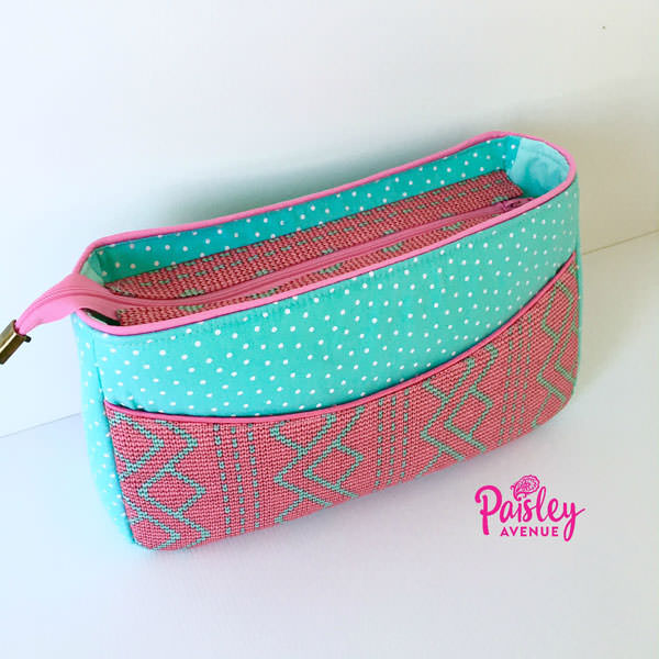 Love this pink and aqua version! Carry All Flexi Clutch - Andrie Designs