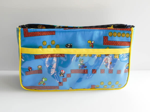 Super Mario Bros Carry All Flexi Clutch - Andrie Designs