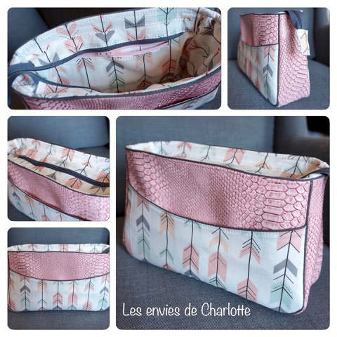 Pretty pink with arrows Carry All Flexi Clutch - Andrie Designs