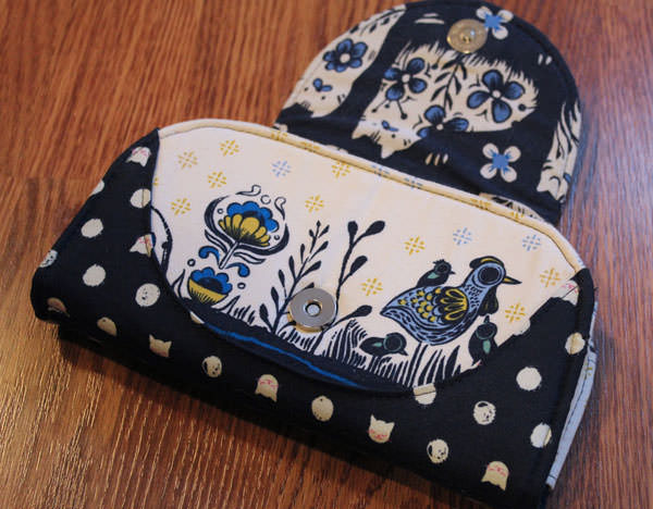 Birds and spots Cleo Everyday Wallet - Andrie Designs