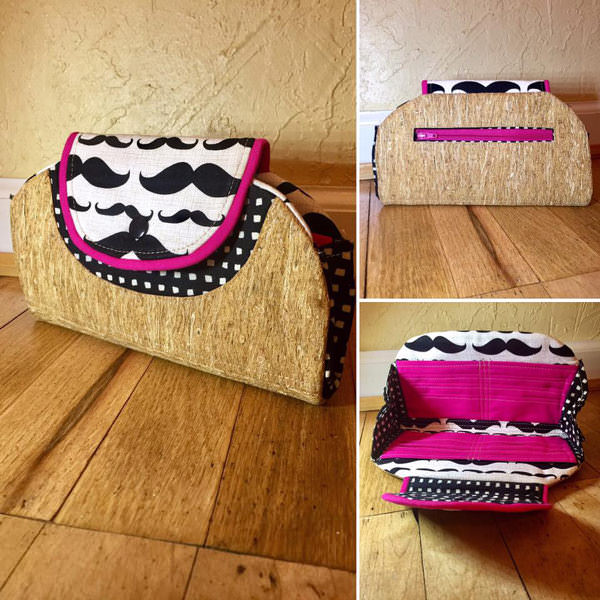Moustaches and cork Cleo Everyday Wallet - Andrie Designs