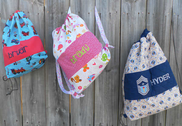 One for every member of the family! Drawstring Wet Bag - Andrie Designs