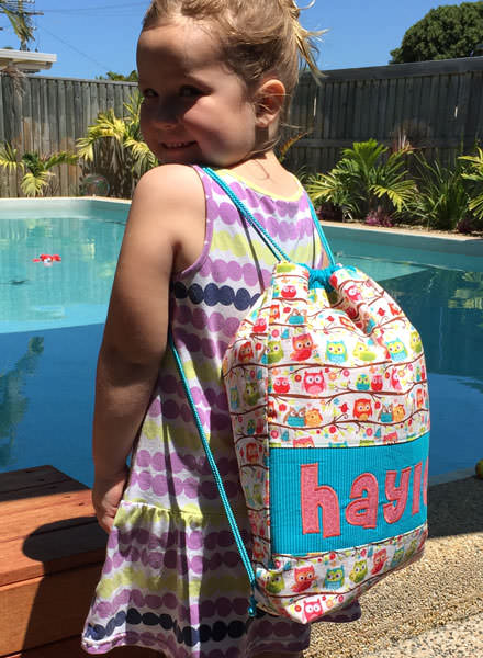 Perfect accessory for the pool! Drawstring Wet Bag - Andrie Designs