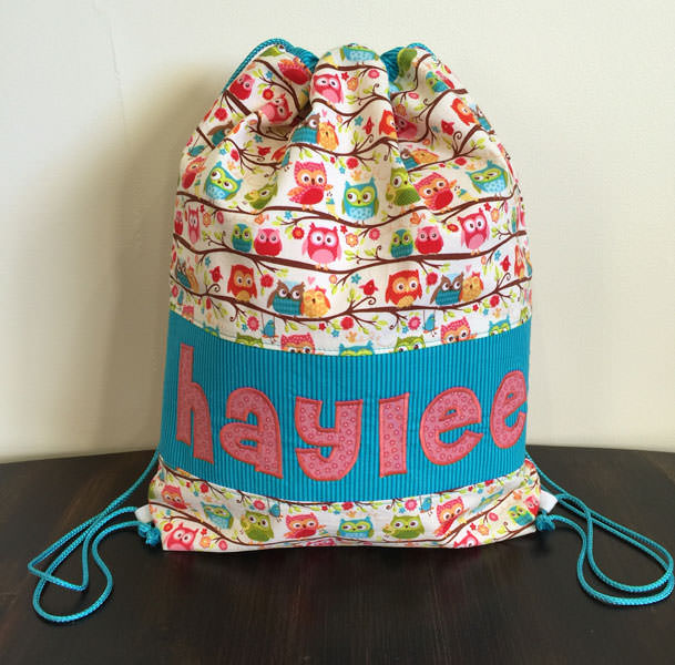 Hoot hoot! Drawstring Wet Bag - Andrie Designs