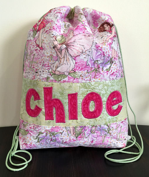 Pretty pink fairies Drawstring Wet Bag - Andrie Designs