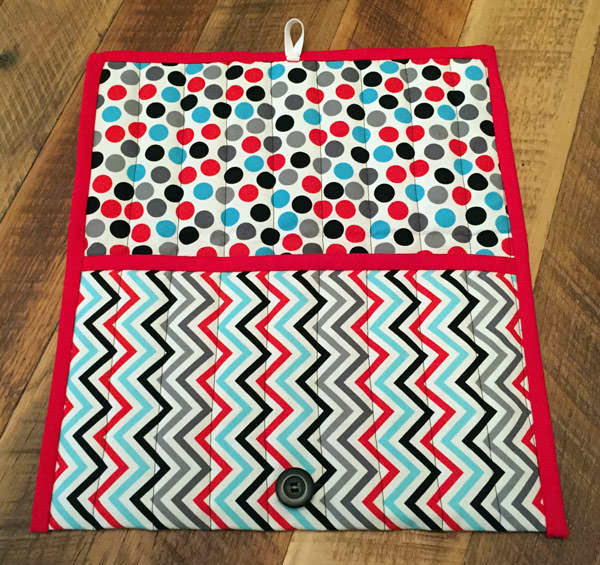 Inside the chevron Essential Diaper Clutch - Andrie Designs