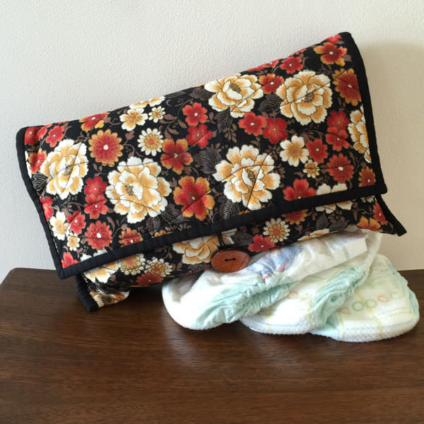 Black oriental Essential Diaper Clutch - Andrie Designs