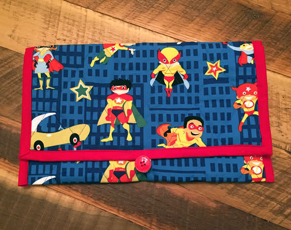 It's super hero time! Essential Diaper Clutch - Andrie Designs