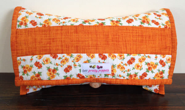 Orange floral Essential Diaper Clutch - Andrie Designs