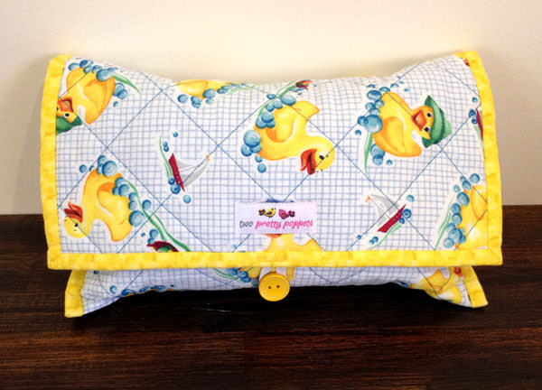 Yellow ducky Essential Diaper Clutch - Andrie Designs