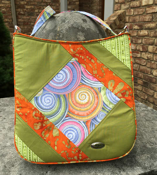 Love this lime green and orange Feature Me Everyday Tote! - Andrie Designs