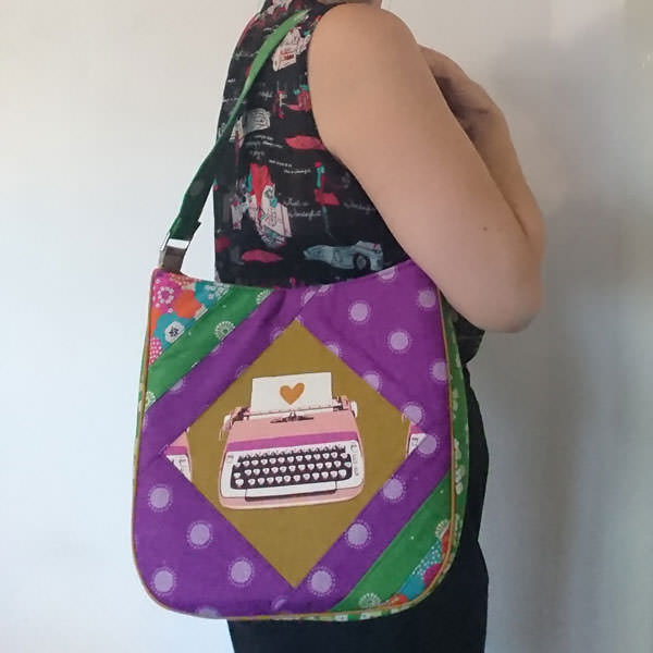 Beautiful purple and green Feature Me Everyday Tote - Andrie Designs